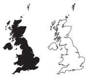 Prosta ostrze kątów mapa tylko - Zjednoczone Królestwo Wielki Bri royalty ilustracja