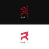 Prosta R listu loga znaka wektoru ikona Fotografia Stock