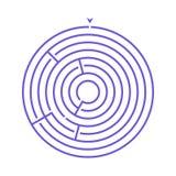 Prosta round labiryntu labityntu gra dla dzieciaków Jeden łamigłówki od setu dziecko rafuje ilustracja wektor