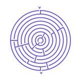 Prosta round labiryntu labityntu gra dla dzieciaków Jeden łamigłówki od setu dziecko rafuje ilustracji
