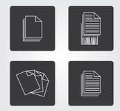 Prosta sieci ikona w: biurowy wyposażenie zdjęcie royalty free