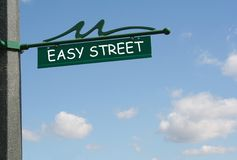 prosta street Zdjęcie Stock