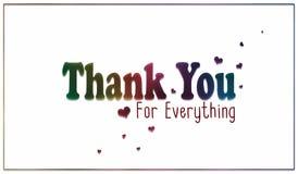 Prosta tęcza Dziękuje Ciebie dla Everything karta zdjęcia stock