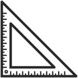 Prosta Wektorowa ikona klasyczna kąt władca w kreskowej sztuki stylu Piksel Perfect Podstawowe wykształcenie element Szkoły i biu ilustracji