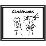Prosta Wektorowa ikona klasyczny szkolny blackboard w kreskowej sztuki stylu Piksel Perfect Podstawowe wykształcenie element royalty ilustracja