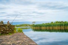 Prostacki połów na Ross jeziorze Irlandia zdjęcia royalty free