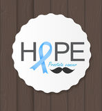 Prostate  Awareness Blue Ribbon Vector Stock Photography