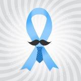 Prostate  Awareness Blue Ribbon Vector Royalty Free Stock Photos