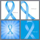 Prostate  Awareness Blue Ribbon Vector Royalty Free Stock Photography