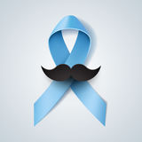 Prostate cancer ribbon awareness Stock Images