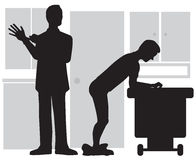 Prostate Examination. Doctor preparing to check prostate of male patient Stock Images