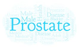 Prostate word cloud. royalty free illustration