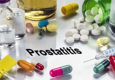 Prostatitis, Medicines As Concept Of Ordinary Treatment. Conceptual Image royalty free stock image