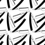 Proste żyletki Bezszwowy wzór z goleń narzędziami Zdjęcia Royalty Free