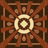 Proste drewniane intarsje komponowali prostokąty inaczej barwiony drewno Drewniana tekstura, podłoga parkietowa royalty ilustracja