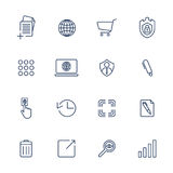 Proste ikony dla app, programów i miejsc, ustawiać różne ikony Obrazy Royalty Free