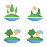 Proste ikony dla pogody i natury wizerunków Zdjęcia Stock