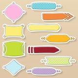 Proste kolorowe ramy i sztandary z różnymi wzorami Zdjęcia Royalty Free