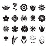 Proste kwiat ikony ustawiać Ogólnoludzka ikona używać dla sieci Zdjęcie Royalty Free
