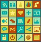Proste Medialne ikony Zdjęcie Stock