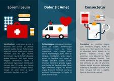 Proste medyczne symbol ikony dla sieć plakata i sztandaru ilustracji