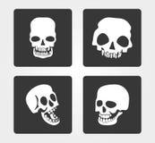 Proste sieci ikony: czaszka Zdjęcie Royalty Free