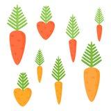 Proste soczyste marchewki odizolowywać na białym tle Fotografia Royalty Free