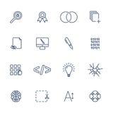 Proste UI ikony dla app, miejsca, programy Różne UI ikony Prości piktogramy na białym tle Zdjęcie Stock