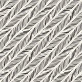 Prostego atramentu geometryczny wzór Monochromatyczny czarny i biały linii tło Ręka rysująca atrament szczotkująca zygzakowata te ilustracja wektor