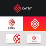 Prostego czystego minimalistic logo ikony znaka wektorowy projekt Obraz Royalty Free
