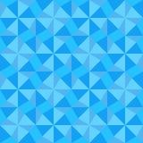 Prostego geometrical ornamentu błękita bezszwowy wzór Mozaika wektoru ilustracja Zdjęcia Stock