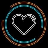 Prostego Hearth Cienka Kreskowa Wektorowa ikona ilustracji