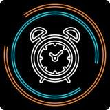 Prostego zegaru Cienka Kreskowa Wektorowa ikona royalty ilustracja