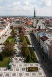 Prostejov dalla torre del municipio, repubblica Ceca Fotografia Stock