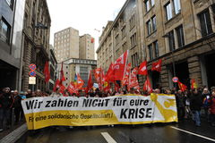 Prostest against banks and euro crisis Royalty Free Stock Images