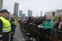 Prostesters van de vrolijke trots maart van Litouwen Royalty-vrije Stock Foto