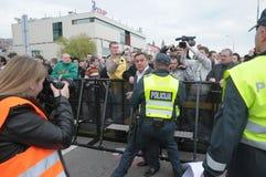 Prostesters van de vrolijke trots maart van Litouwen Royalty-vrije Stock Foto's
