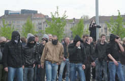 Prostesters van de vrolijke trots maart van Litouwen Stock Afbeeldingen