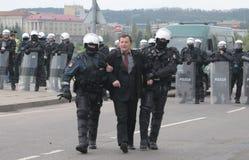 Prostesters van de vrolijke trots maart van Litouwen Royalty-vrije Stock Afbeelding