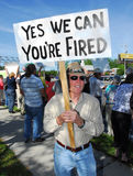 Prostestor upset with taxes Royalty Free Stock Photo