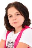 prostetic美丽的眼睛的女孩 库存图片