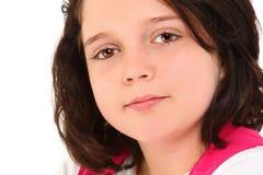 prostetic美丽的眼睛的女孩 库存照片