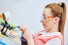 Prosthetic dentistry technician Royalty Free Stock Photo