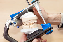 Prosthetic Facial Dental in Device Royalty Free Stock Photos