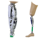 Prosthetic leg and knee mechanism Royalty Free Stock Photography