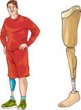 Prosthetic leg. A vector illustration of  prosthetic leg Stock Photography