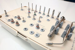 Prosthetist dentist tool Royalty Free Stock Images