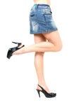Prostituée dans la jupe courte image stock