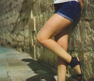 Prostituta fêmea Foto de Stock
