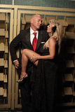 Prostitute and a businessman Stock Photo